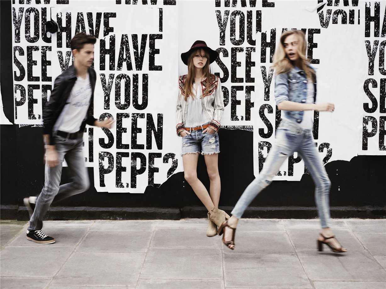Cara Delevingne / Кара Делевинь в рекламе джинсовой одежды Pepe Jeans, весна-лето 2013