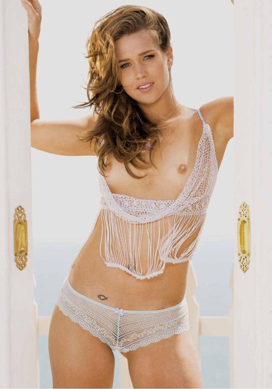 голая теннисистка Эшли Харклроуд / Ashley Harkleroad - Playboy USA august 2008