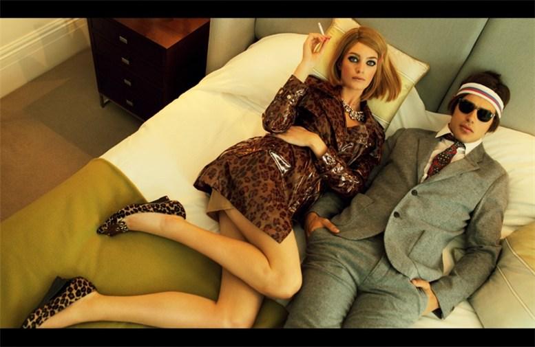 Milly Simmonds and Matt Trethe by Nikolay Biryukov in Elle Ukraine september 2013