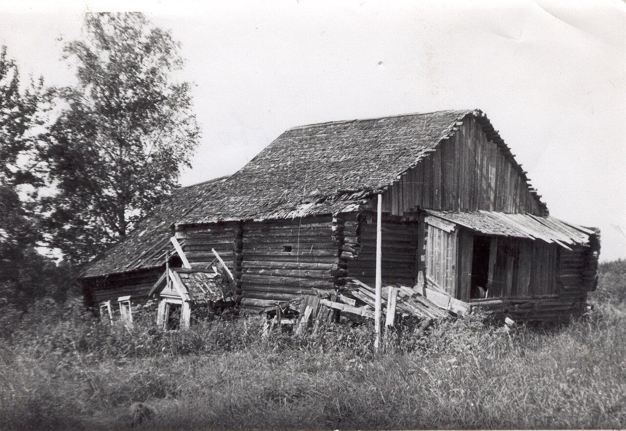 Дом Орловой (Лебедевой) Елизаветы Васильевны в деревне Лимоново. Фото 70-х годов.