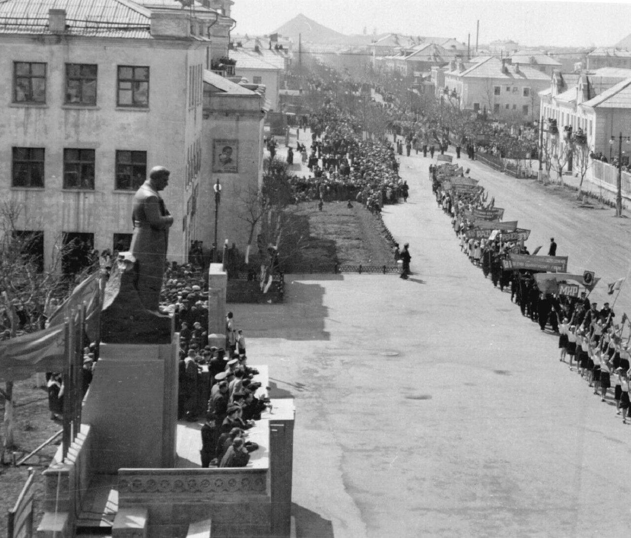 1956. Первомайская демонстрация