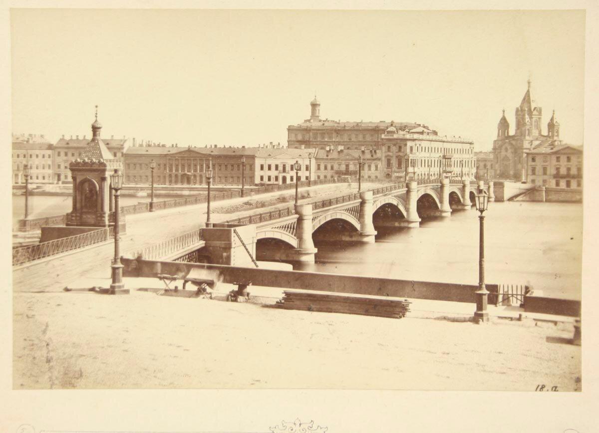 Николаевский мост в Санкт-Петербурге. 1870-е гг.