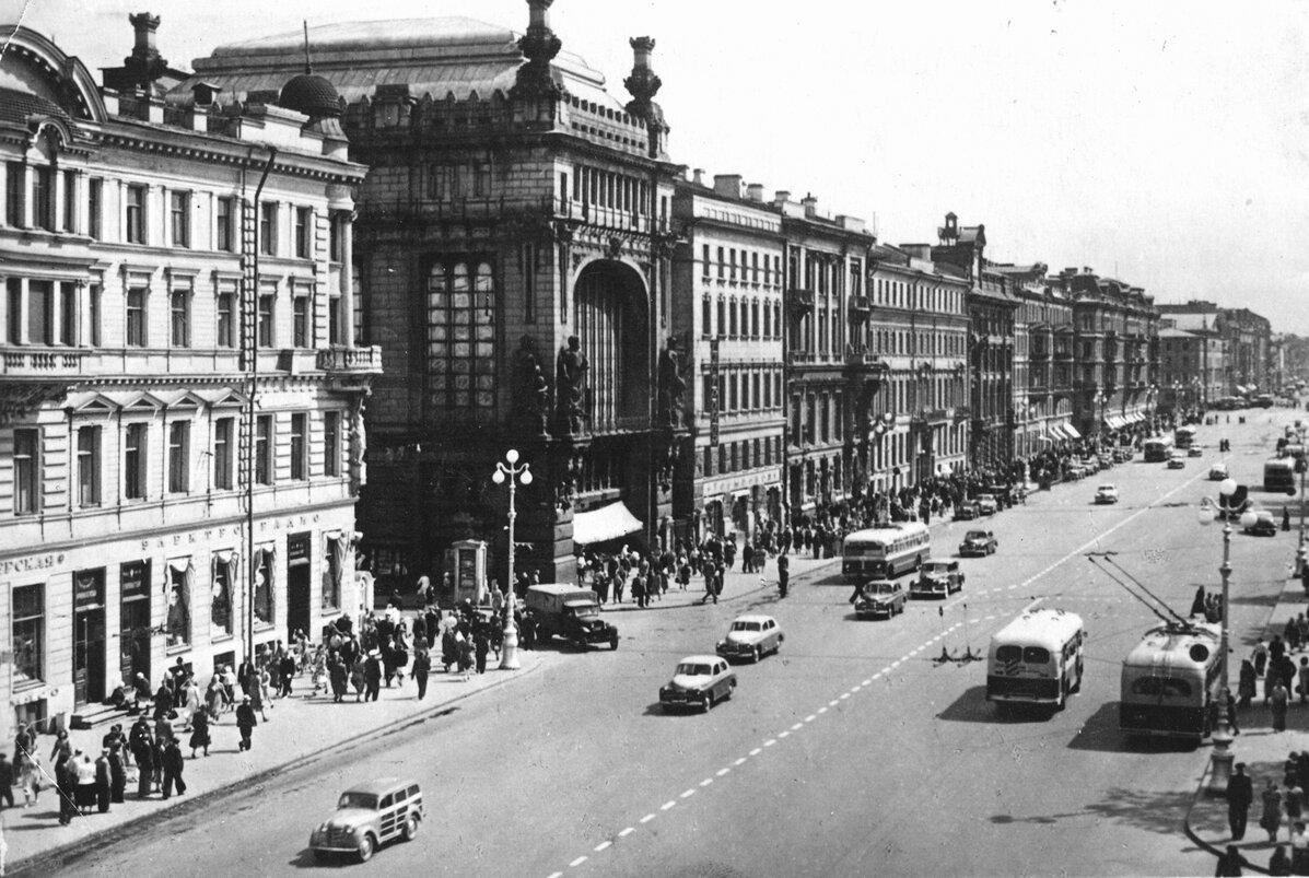 Невский проспект 1954 год.