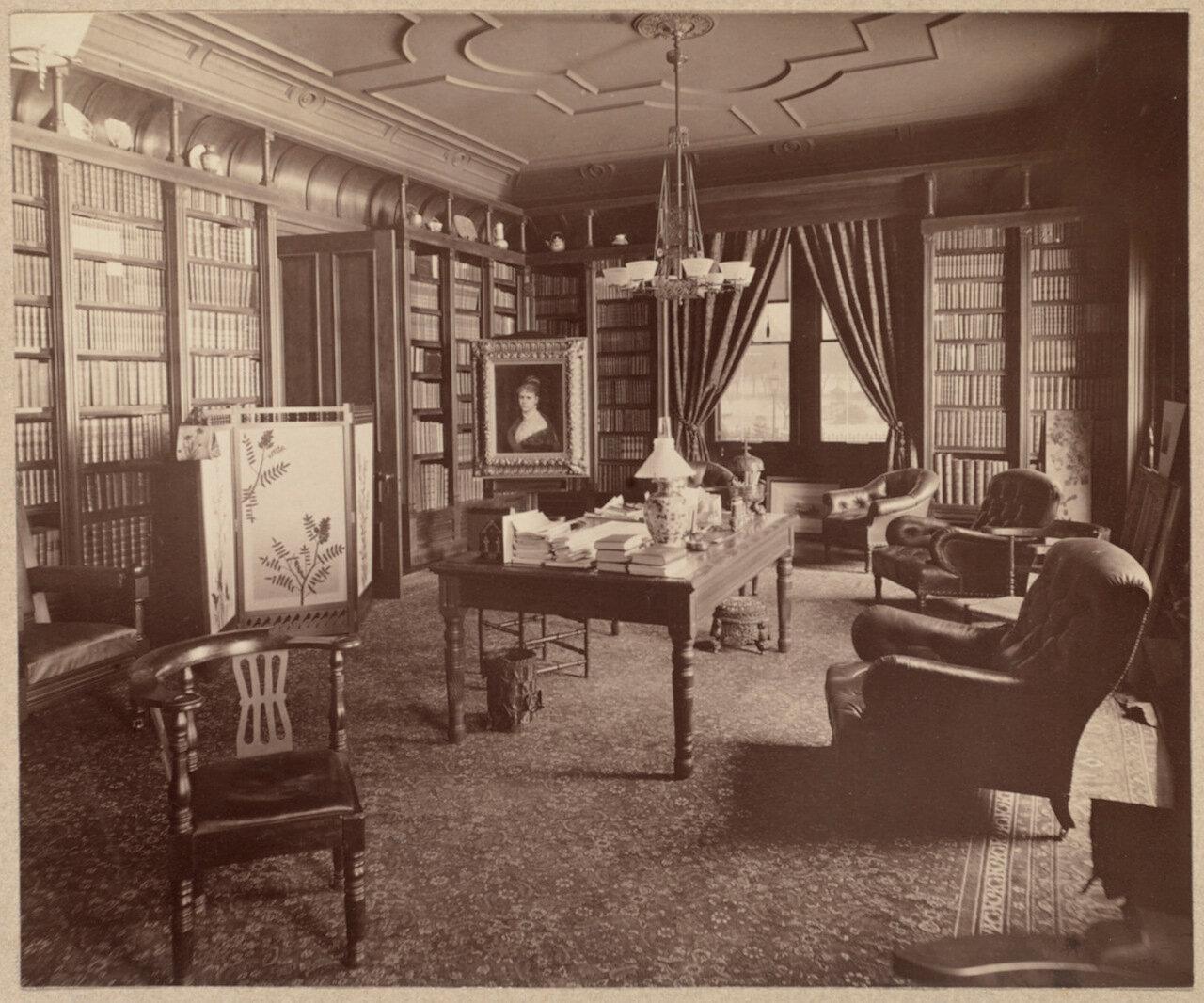 Конец XIX века. Библиотека на Бекон-стрит зимой