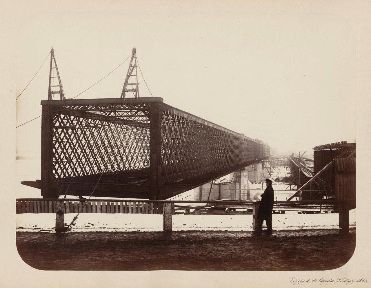 Завершение строительства Александровского моста. Фотография сделана между 24 января и 5 февраля 1864 г.