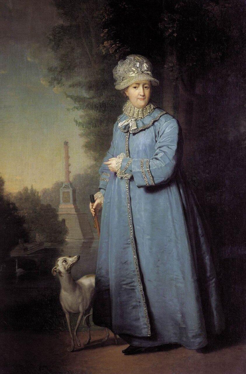 Владимир Лукич Боровиковский. Екатерина II на прогулке в Царскосельском парке