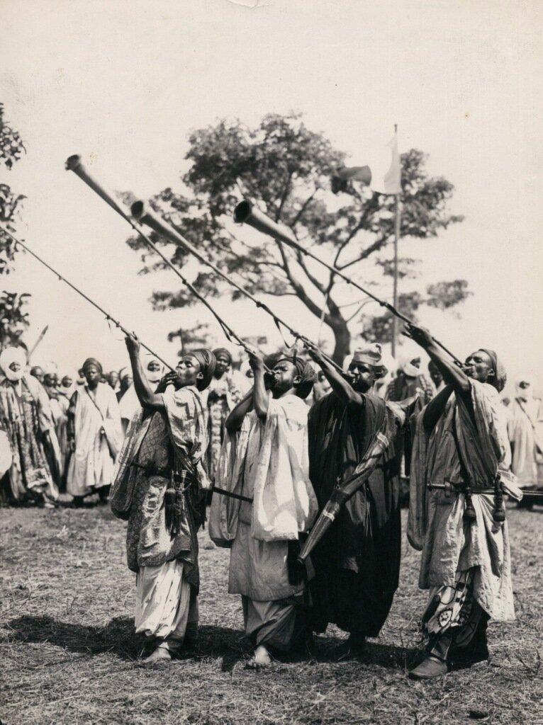 Камерун. Музыканты. 1930