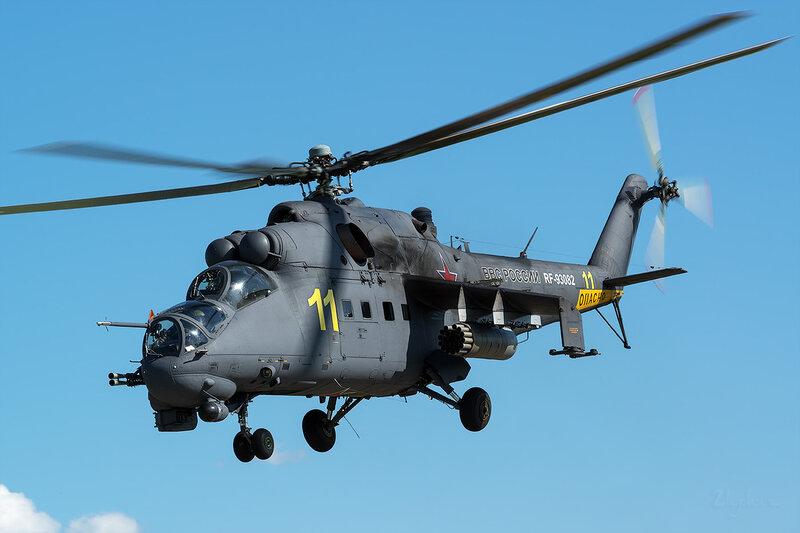 Миль Ми-24П (RF-93082 / 11 жёлтый) D800984