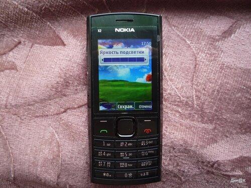 Nokia X2-02 (настройка яркости экрана)