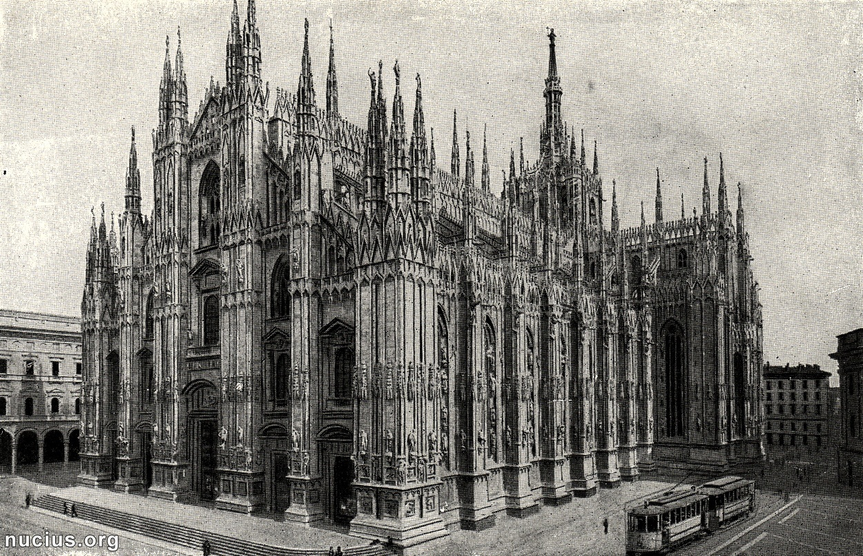 A photograph from a souvenir album about Milan, found on nucius.org