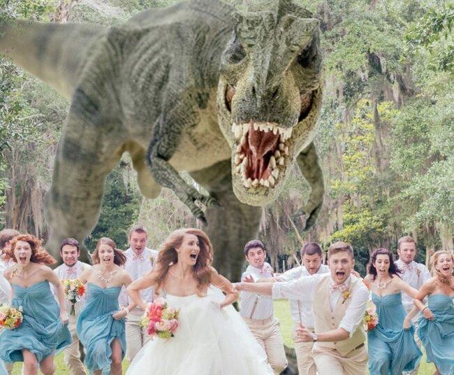 Самая крутая идея для свадебной фотографии