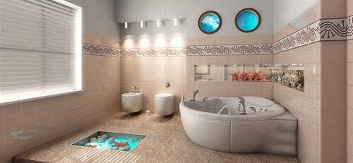 Ремонт ванной и полов в ней