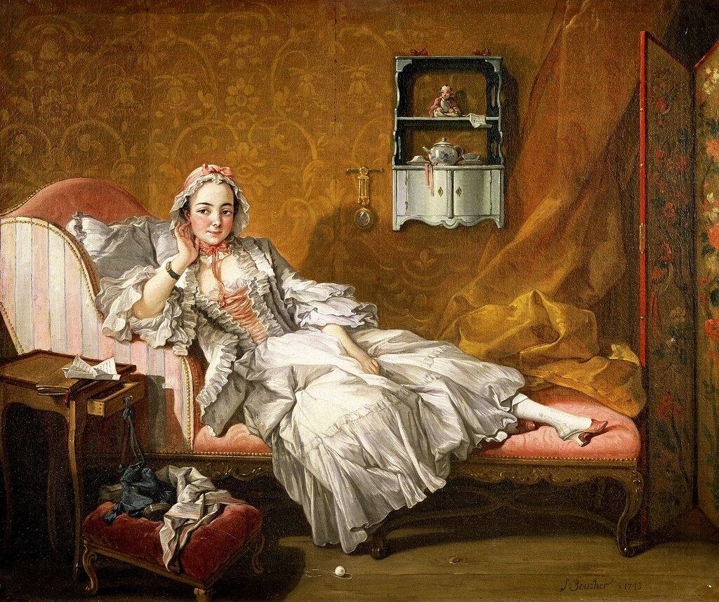 33.Портрет Мари-Жанне Бюзо, жены художника (1743) (57.2 x 68.3) (Нью-Йорк, Коллекция Фрик).JPG