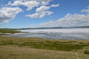 Ледяная шуга на озере Хиндиктиг-Холь