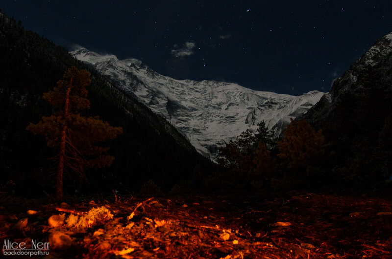 Очередная стоянка в волшебных Гималаях, ночь в гималаях, природа, гималаи, непал, горы