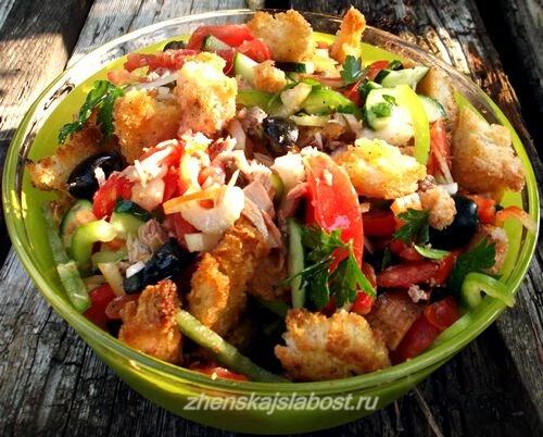 панцанелла - салат с сухариками