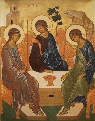Святая Троица икона Рублева