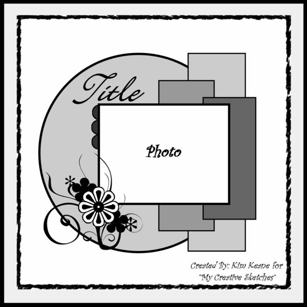 Скетчи для скрапбукинга для альбома с примерами