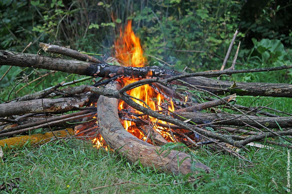 костёр, огонь, река, оскол, волоконовский район, Белгородская область