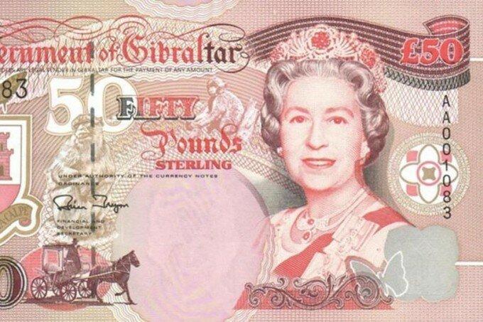Портреты королевы Елизаветы II в разном возрасте на бумажных банкнотах