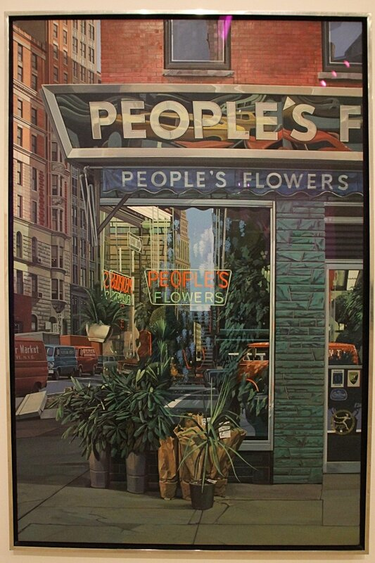 Richard Estes, People's Flowers, 1971.