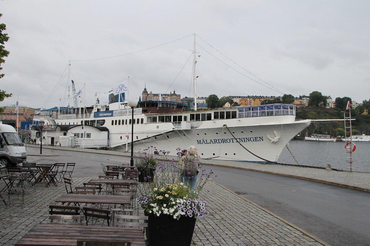Stockholm. Стокгольм. Malardrottningen. Плавучий отель