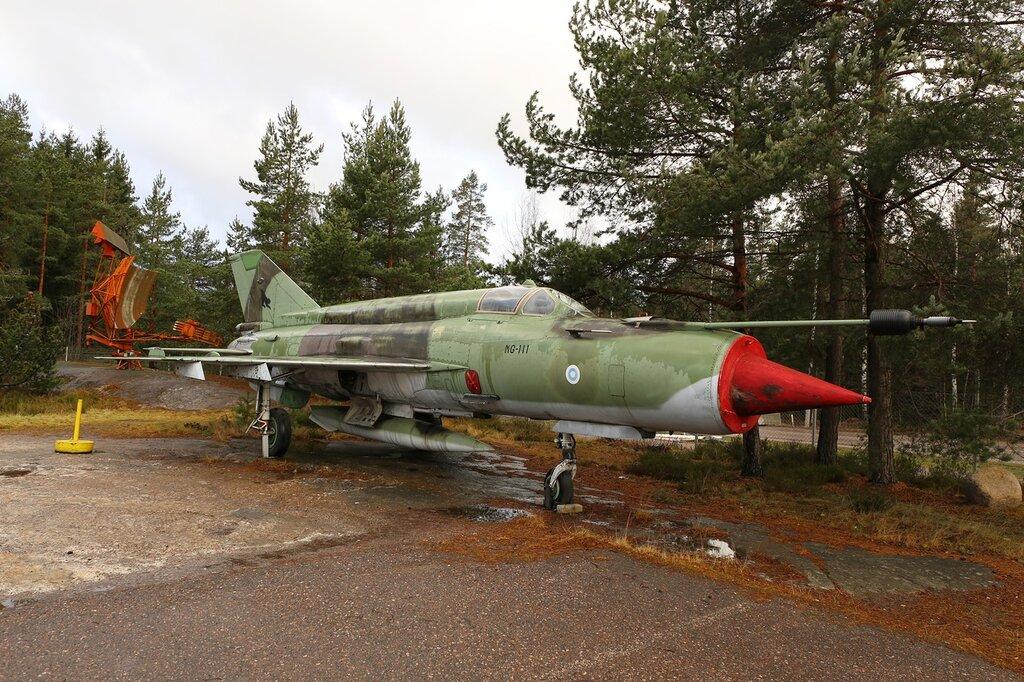 Helsinki-Vantaa Air Museum. The MiG-21