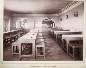 Внутренний вид столовой для рабочих.