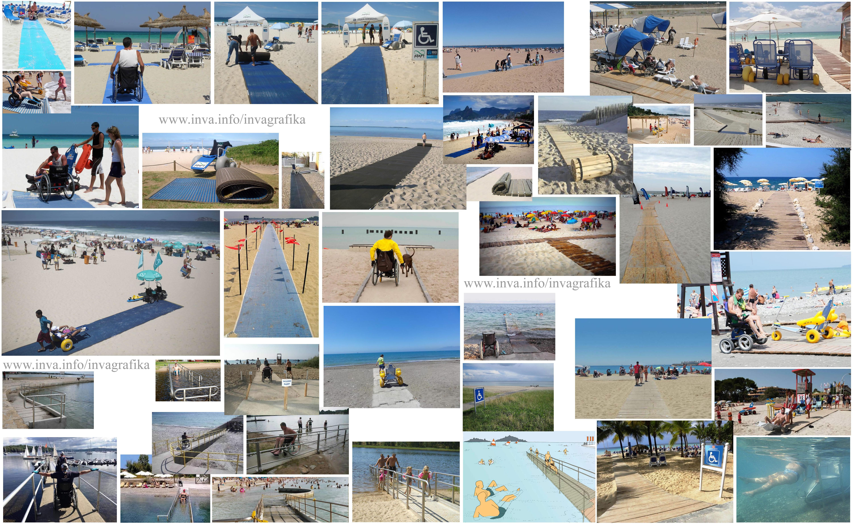 Пляжи, оборудованные для инвалидов. Спуски к воде, пандусы, рампы, дорожки