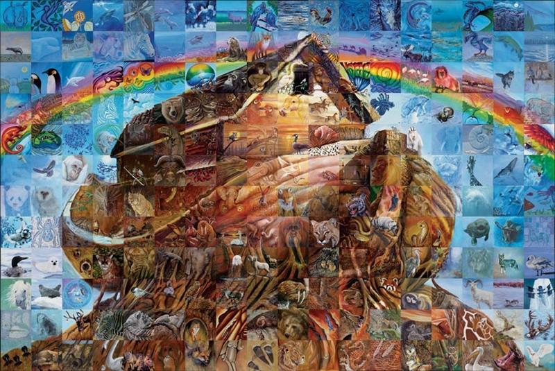 Фрески-мозаики Льюиса Лаво