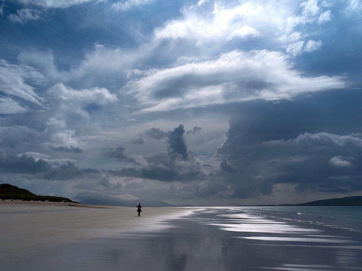 Пляж Ласкентайр (Luskentyre) на острове Харрис. Шотландия.