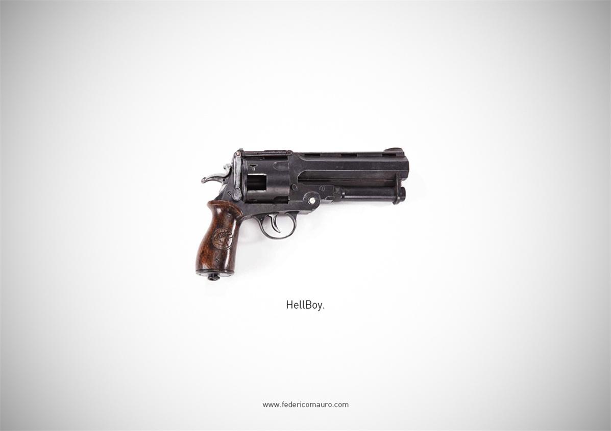 Знаменитые пушки - оружие культовых персонажей / Famous Guns by Federico Mauro - Hellboy