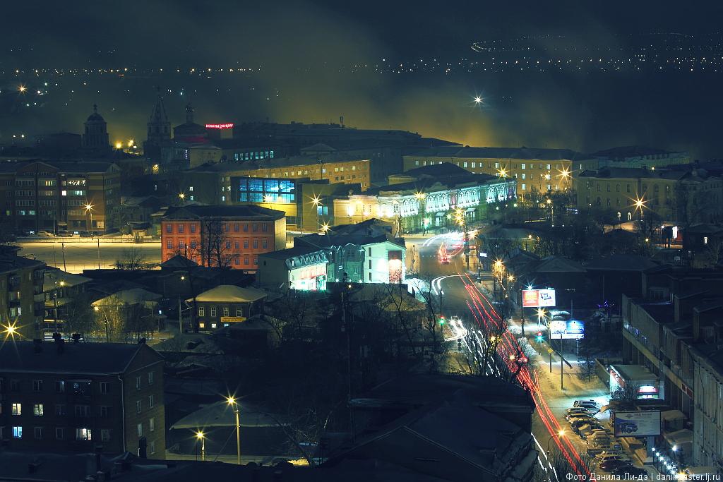 Фотографии ночного иркутска