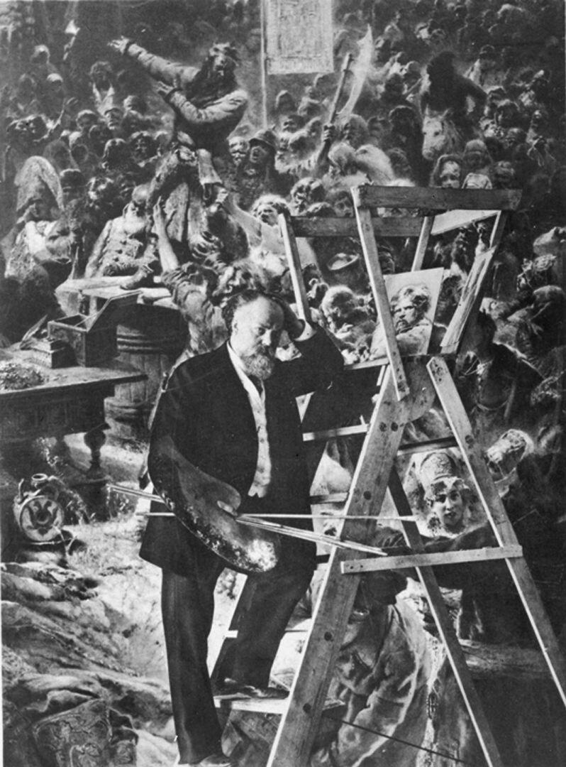 К.Е. Маковский у картины «Воззвание Минина».