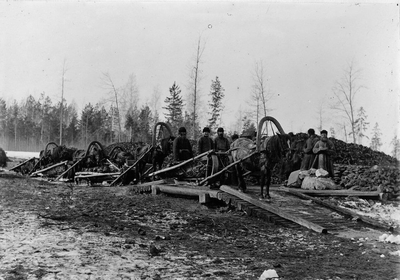 Для выплавки руды было куплено поместье примерно в 4 км от доменной печи приблизительно с 8000 акрами леса