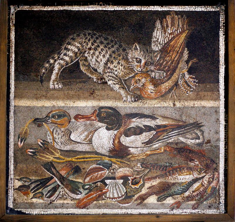 Мозаика, Помпеи