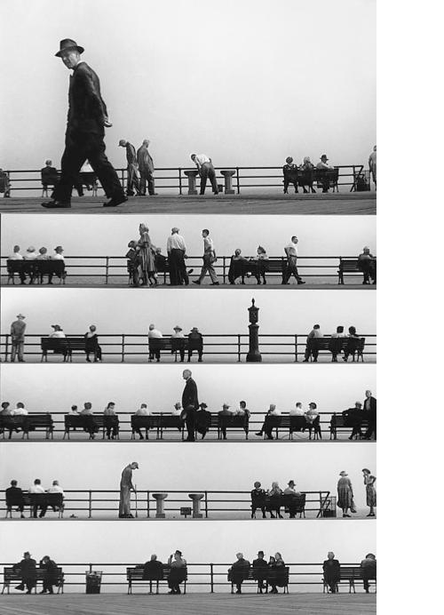 Sheet Music Montage, Coney Island 1950 - Harold Feinstein