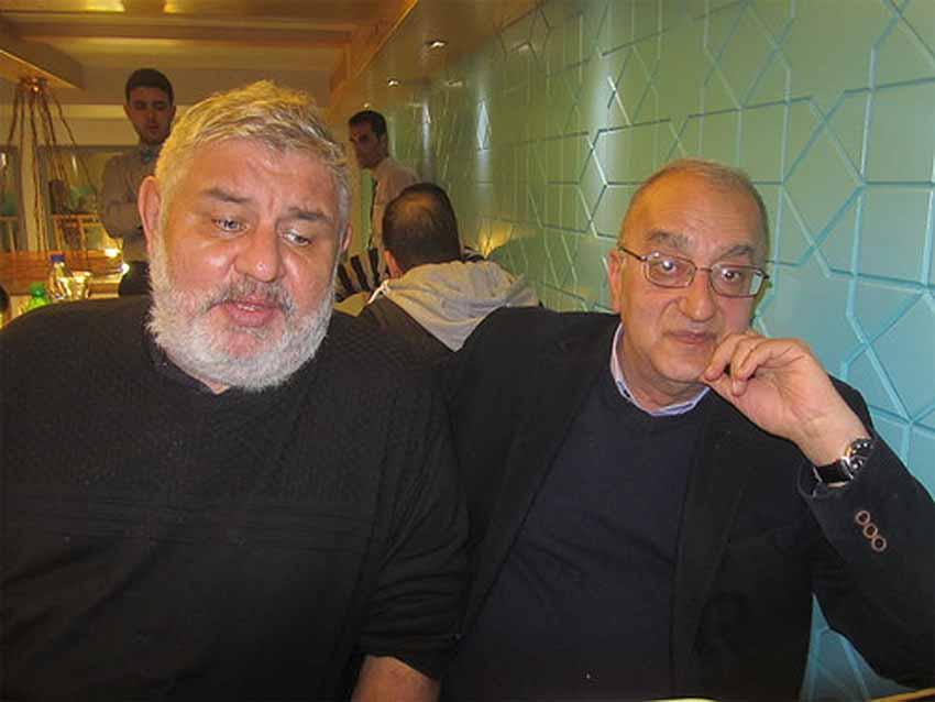 С лидерoм КП Сирии Аммарoм Багдашем,  в рестoране аль-Маза
