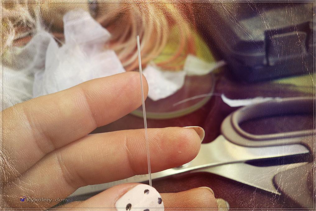белый пушистый одуванчик из ткани мастер-класс