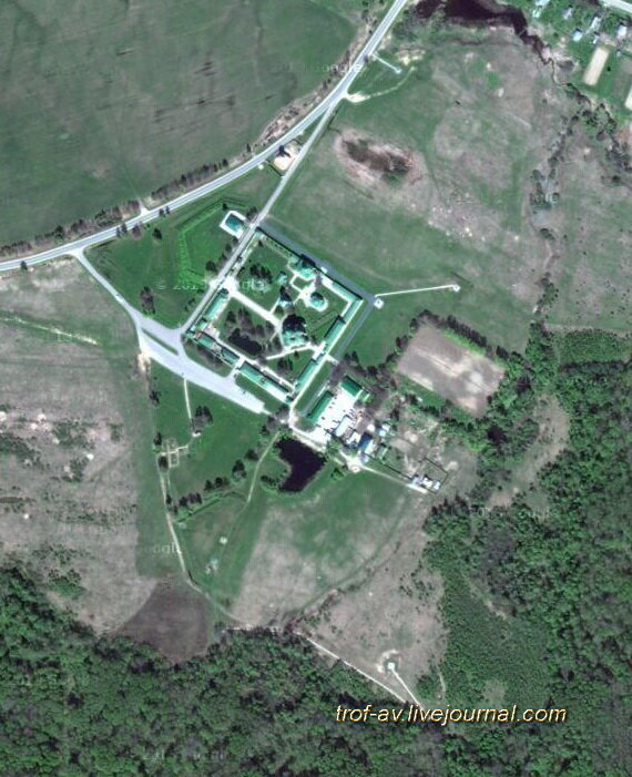 Спасо-Бородинский женский монастырь из космоса