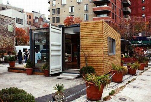 Экономичный маленький дом из контейнера