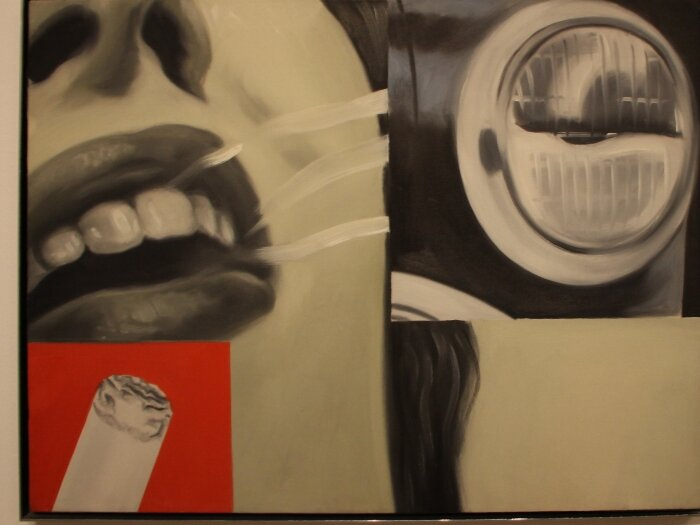 Ждеймс Розенквист (James Rosenquist). Дымчатое стекло (Smoked Glass) 1962. Холст, масло,  61 x 81.5 cm.