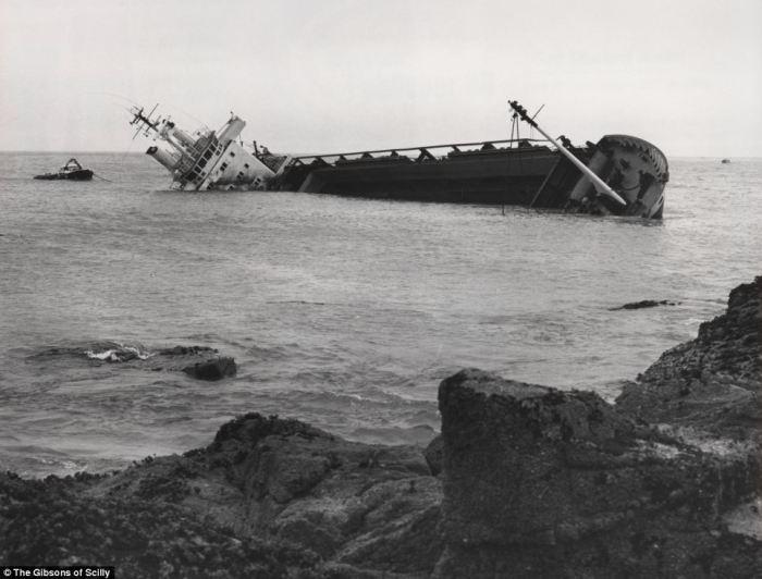 «Mildred» потерялся в густом тумане и ударился о скалы 6 апреля 1912 года.