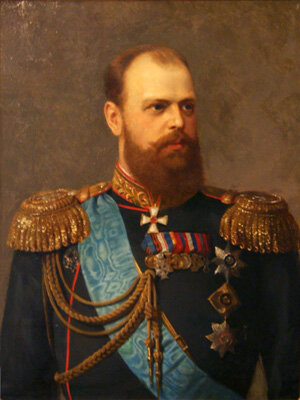 Неизвестный художник. Портрет императора Александра III