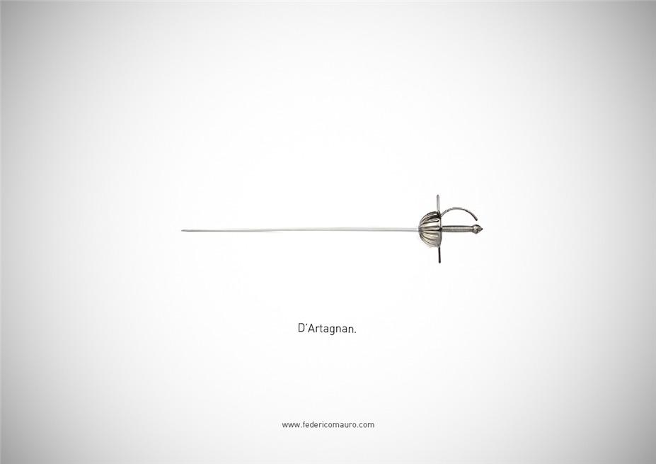 Знаменитые клинки, ножи и тесаки культовых персонажей / Famous Blades by Federico Mauro - d'Artagnan