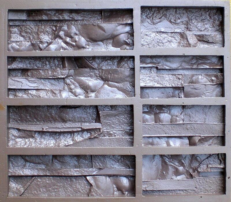 Формы из поливинилпласта текстура камня Тонкий пласт текстура 1 и текстура 2