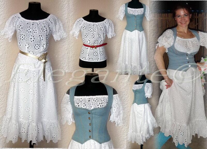 Трикотажное платье с ярусной юбкой 42