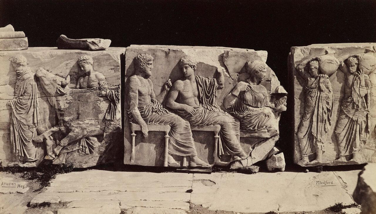 31 мая 1862. Части фриза Парфенона. Афины, Греция