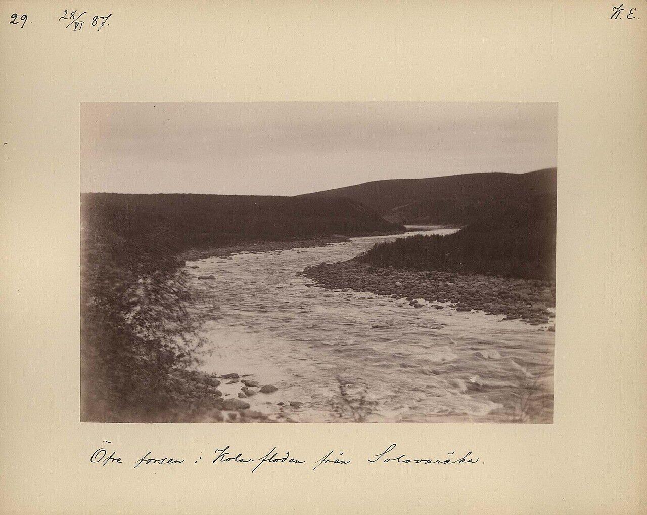 28.6.1887  Река Кола с горы Соловарака