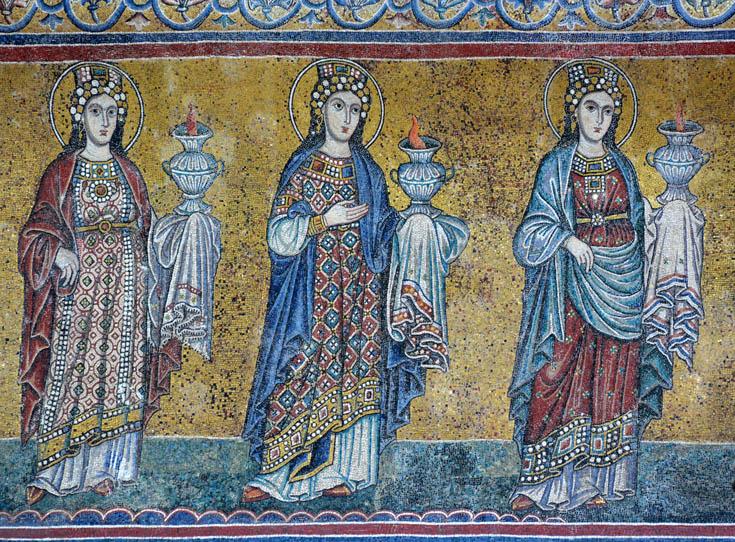 мозаика фасада  Санта-Мария-ин-Трастевере
